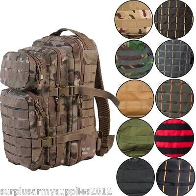 Military 28 Litre Rucksack Molle Bag British Army Daysack Hiking Cadet Mtp Camo