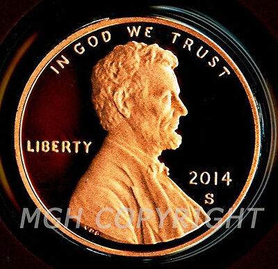 2014 S PROOF Lincoln Shield Cent Single Coin Deep Cameo GEM