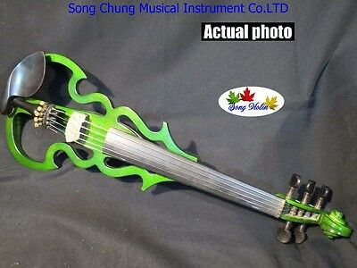 New SONG Brand streamline 5 strings 4/4 electric violin,solid wood #7675
