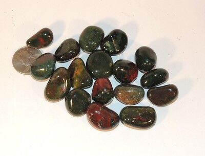 Bloodstone tumbled stones 1/4 pound from India (7581)
