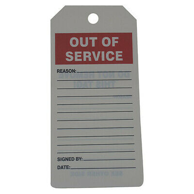 Out of Service Tag,Roll,6-1/4 x 3,PK100 ACCUFORM TAR714