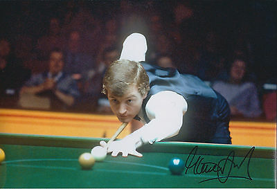 Steve Davis SIGNED Autograph of Snooker World Champ Legend 12x8 Photo AFTAL COA
