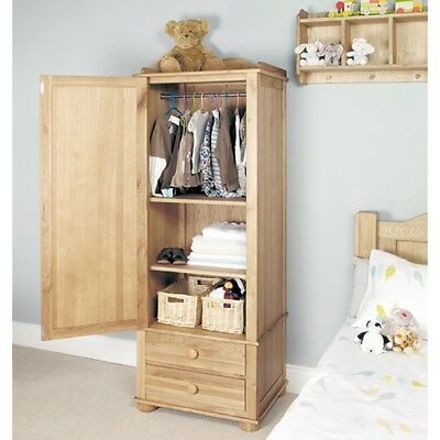Amelie Oak Children Furniture Single Wardrobe