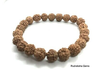 Rudraksha Rudraksh Bracelet Wrist Band Wristband Indonesian Raw Beads Pure