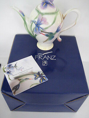 Superb Franz Porcelain Humming Bird Coffee Pot Fz00132 Boxed Unused