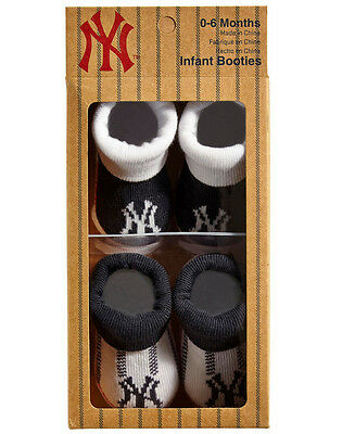 New Majestic New York Yankees Baby Sock Booties - 2 Pack - Navy Blue