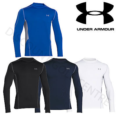Under Armour Mens ColdGear EVO Fitted Hybrid Sport Mock Base Layer - 1249976