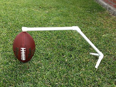 Football Kicking Holder Tee. White with rubber tip for better grip.