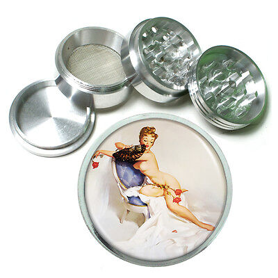 Aluminum Herb Tobacco 4pc Grinder Classic Vintage Model Pin Up Girl Design-146