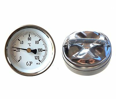 TEMPERATURE GAUGE DIAL for Home & Industrial :: CLIP ON PIPE THERMOMETER ::