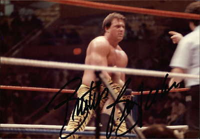 BRUTUS BEEFCAKE WRESTLER THE BARBER SIGNED SMALL PHOTO 5X3.5 ID #27724