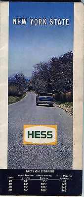 1969 Hess New York State Vintage Road Map