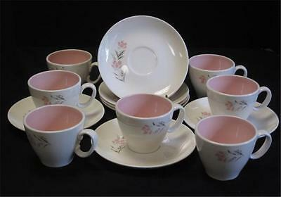 Ever Yours Spring Glory SEVEN Cups SEVEN Saucers Taylor Smith & Taylor