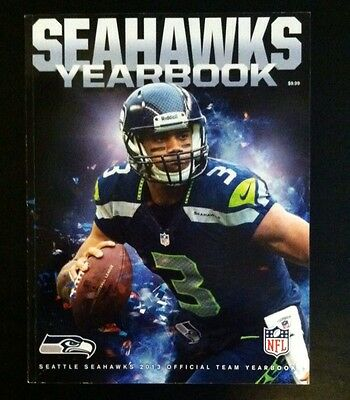 Seattle Seahawks 2013-14 Yearbook Super Bowl XLVIII CHAMPS Rare Item Autographs