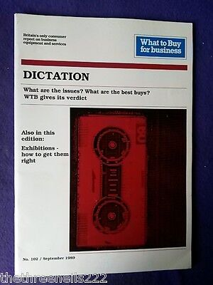 What To Buy For Business #102 - Dictation - Sept 1989