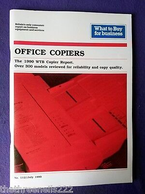 What To Buy For Business #112 - Office Copiers - July 1990