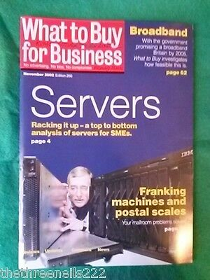 What To Buy For Business #260 - Servers - Nov 2002