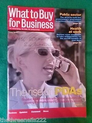 WHAT TO BUY FOR BUSINESS #280 - PDAs - JULY 2004