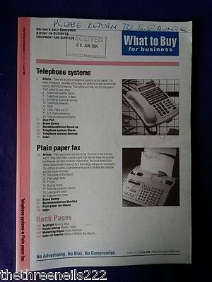 What To Buy For Business #159 - Plain Paper Fax - June 1994