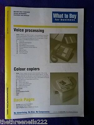 What To Buy For Business #166 - Voice Processing - Jan 1995