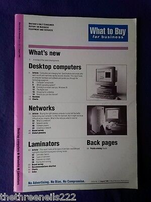 What To Buy For Business #173 - Laminators - Aug 1995