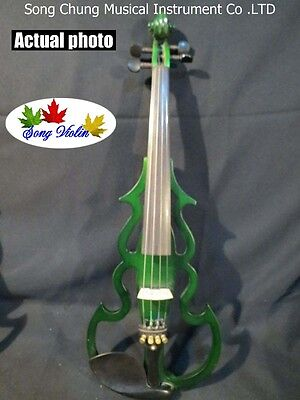 Excellent SONG Brand streamline 4/4 electric violin,solid wood #7676