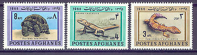 Reptilien, Tiere - Afghanistan - 957-959 ** MNH 1966