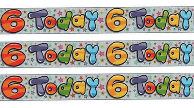 Messages For 6 Year Holographic Boy Happy 6th Birthday Today Banner Party Decoration 9ft