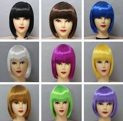 New Ladies Womens Fashion Short Bob Style Full Wig Fancy Dress PartyCosplay(BOB)