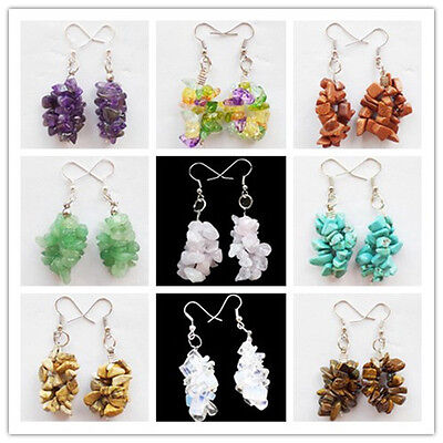 Beautiful Mixed stone Chip Earrings 1Pair 2Pairs  U035