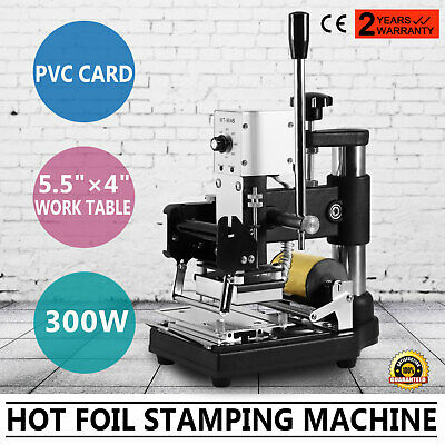 Hot Foil Stamping Printing Machine Tipper PVC Credit Card + Silver Gilding Cards