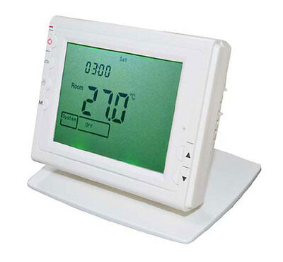 SAS908 Large Screen Programmable Wireless Thermostat RF - 100M Remote Control