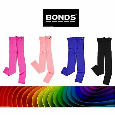 Bonds Girls 40 Denier Opaque Footless Tights Pantyhose Kids Black Pink Purple