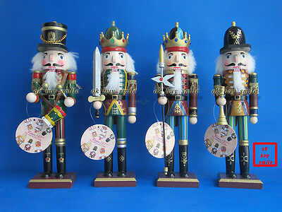 Brand New Nutcracker Wood 12 Inches Tall Halloween Thanksgiving Christmas Gift
