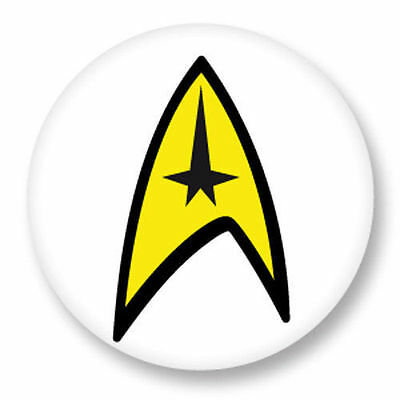 Magnet Aimant Frigo Ø38mm Star Trek Science Fiction Enterprise Spock Kirk