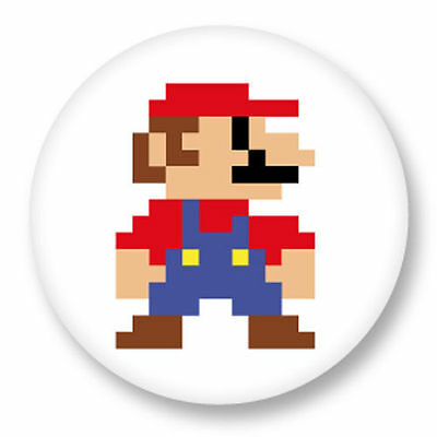Magnet Aimant Frigo Ø38mm Super Mario Bros Retro Game Nintendo