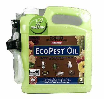 Eco Pest Oil 3L Multicrop Scale Mite Aphid Killer Organic Certified Insecticide