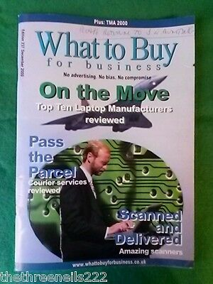 What To Buy For Business #237 - Courier Services - Dec 2000