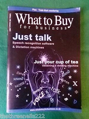 What To Buy For Business #238 - Speech Recognition - Jan 2001