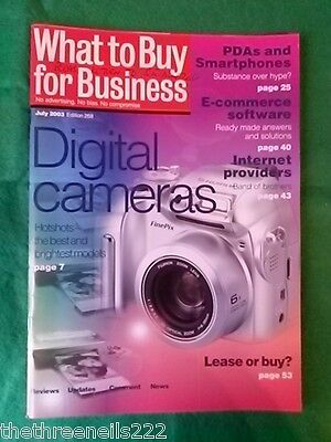 What To Buy For Business #268 - Digital Cameras - July 2003