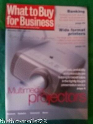 What To Buy For Business #272 - Multimedia Projectors - Nov 2003