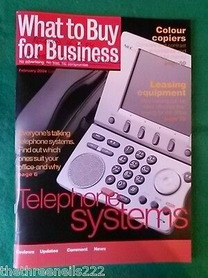 What To Buy For Business #275 - Leasing Equipment - Jan 2004
