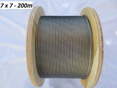 Marine Stainless Steel Wire 316- Wire Balustrade Cable Rope - 3.2mm - 7 x 7