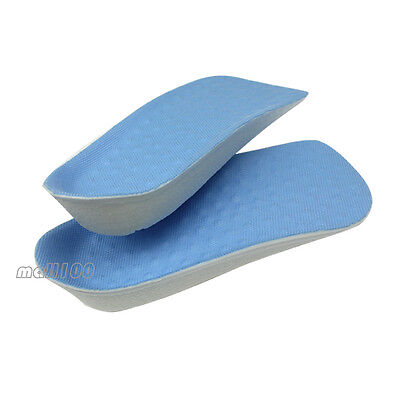 "Black 2cm//0.8/"" Higher Secret Height Increase In Sock Shoes Pad Lift Half Insole"