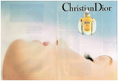 Publicité Advertising 1991 (2 pages) Parfum Dune de Christian dior