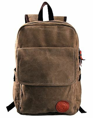 Vintage Canvas Mens Women Laptop Backpack Travel Hiking Casual Rucksack New Bags