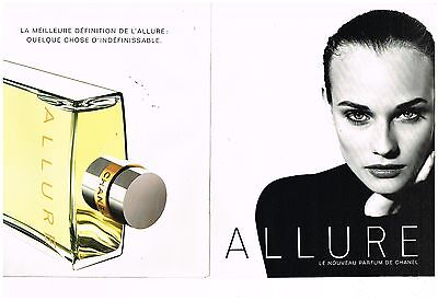 "Publicité Advertising 1996 (2 pages) Parfum ""Allure"" Chanel"