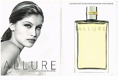 Publicité Advertising 1997 (2 pages) Parfum Allure par Chanel laetitia casta