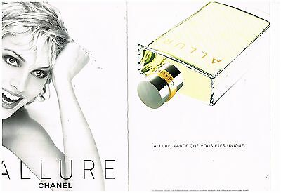Publicité Advertising 1998 (2 pages) * Parfum Allure par Chanel