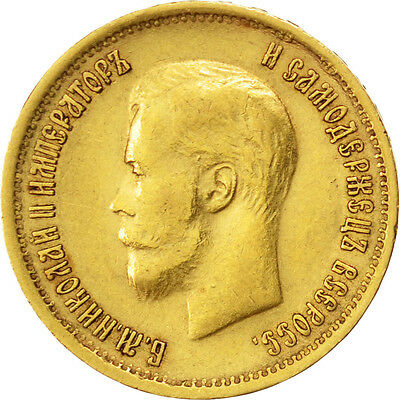[#33834] RUSSIA, 10 Roubles, 1899, St. Petersburg, KM #64, EF(40-45), Gold, 8.60